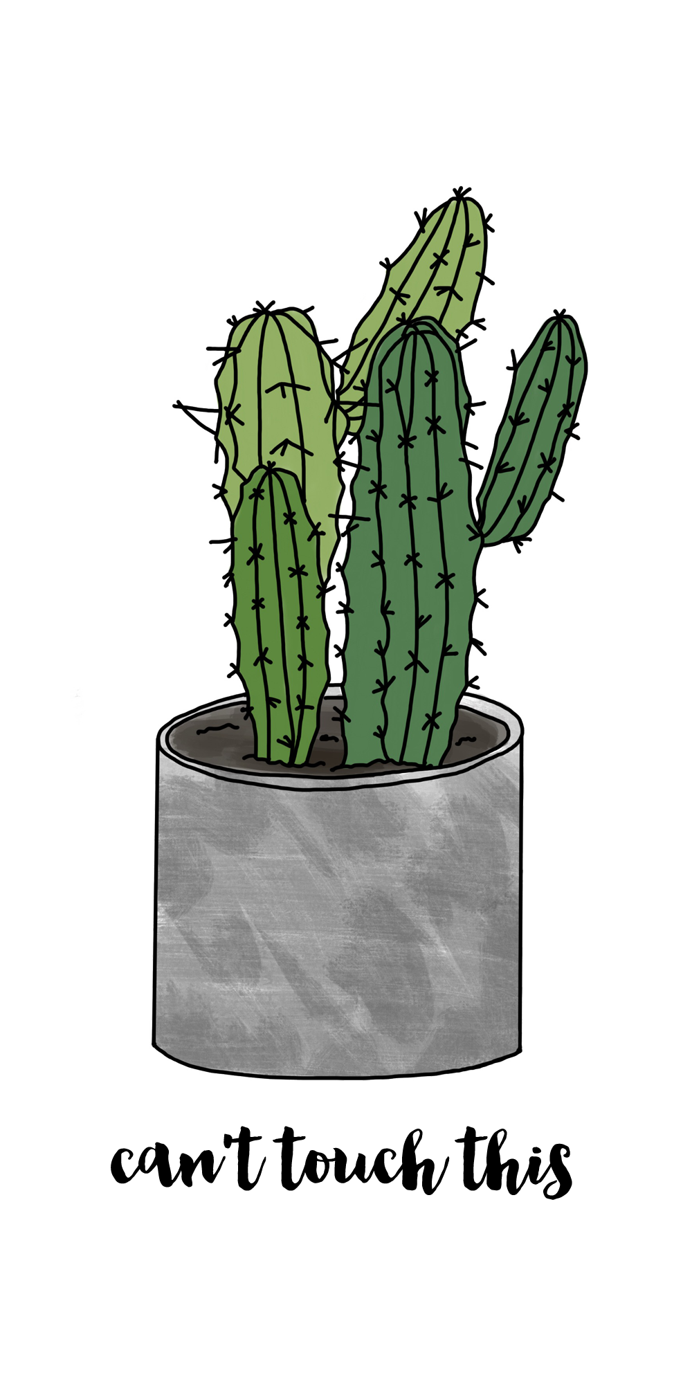 Drawing Cactus Wallpaper Transparent Png Clipart Free Download