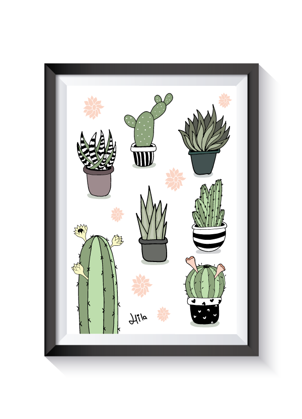 Drawing cactus pinterest. Pretty illustrations by misscupcakes