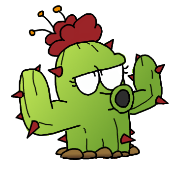 Drawing cactus plant vs zombie. Image png plants zombies