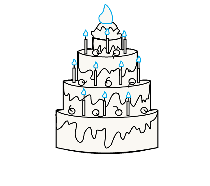 Drawing cake. How to draw a