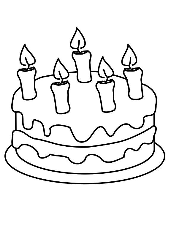 Drawing cake png. File draw this birthday