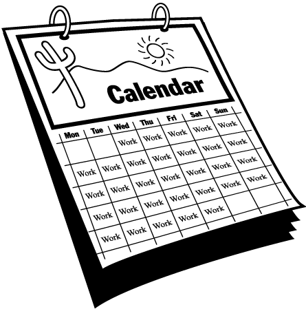 Drawing calendar. Collection of images