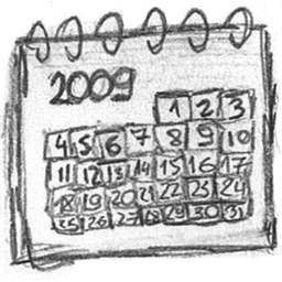Drawing calendar. Icon download hand icons