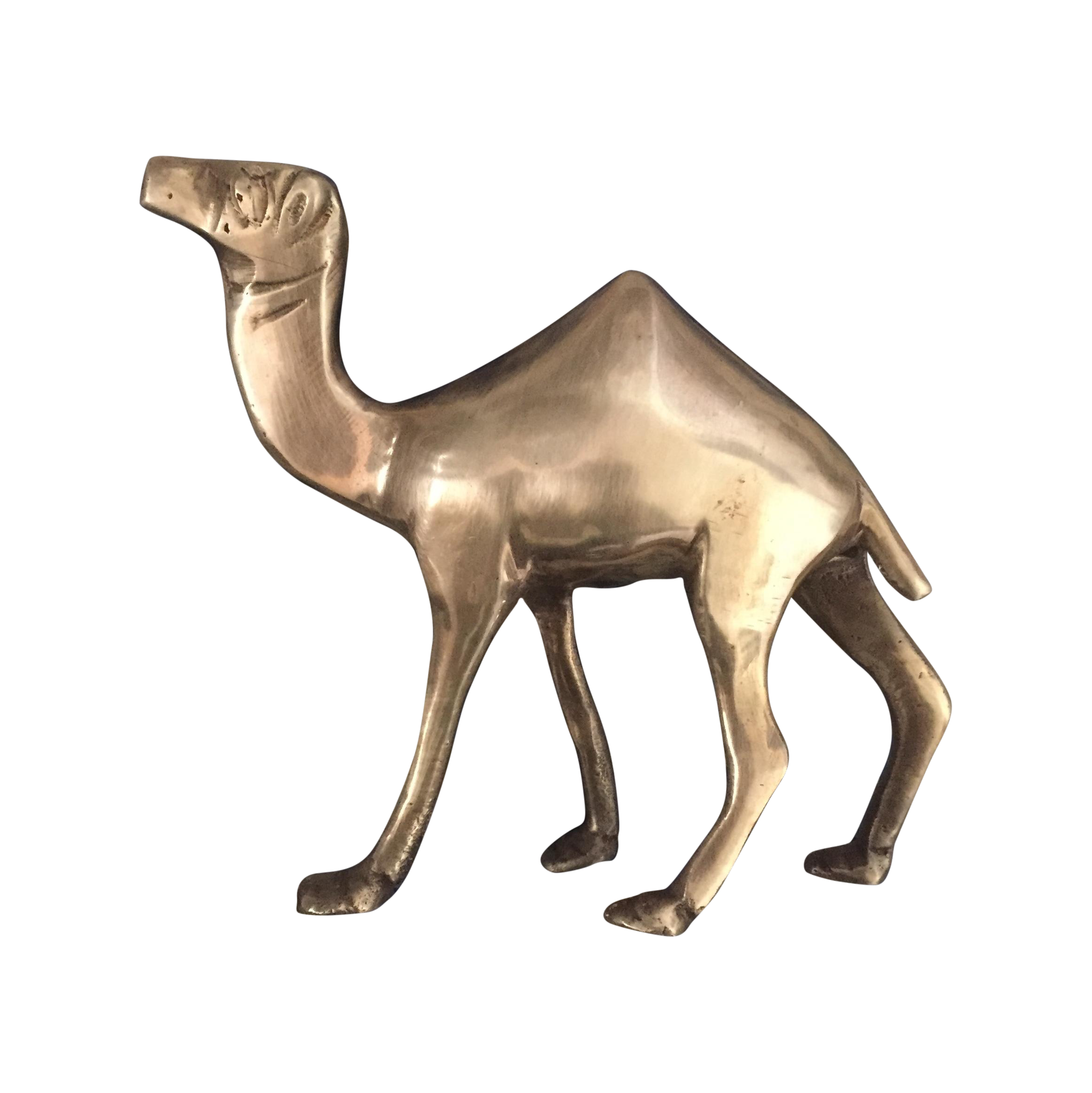 Drawing camels decorative. Brass camel figurine statue