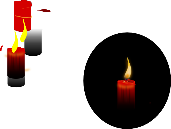 Drawing candle red. Clip art at clker