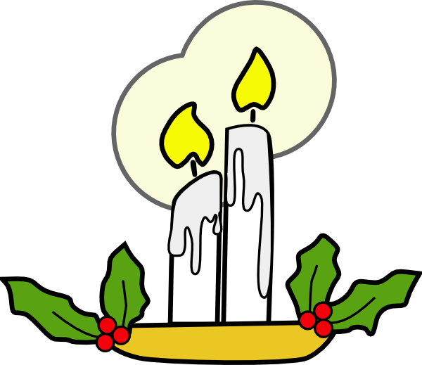 Drawing candle cartoon. Christmas candles clip art