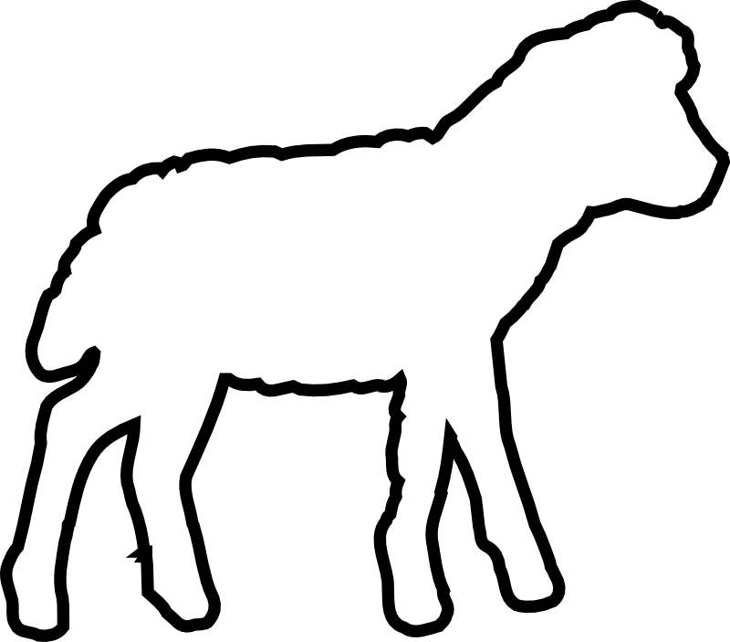 Drawing sheep clipart. Chrismons and chrismon patterns