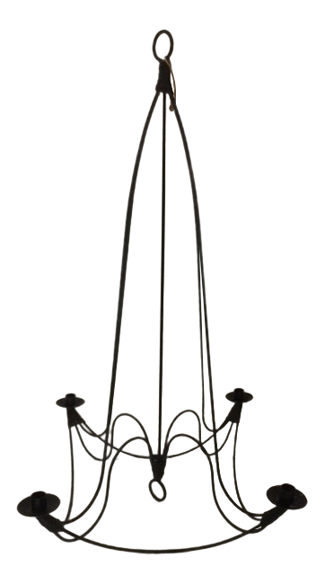 Drawing candle holder. Vintage provencal wrought iron