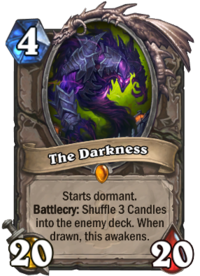 Drawing candle in dark. The darkness hearthstone wiki