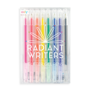 Drawing candle pen. Radiant writers glitter gel