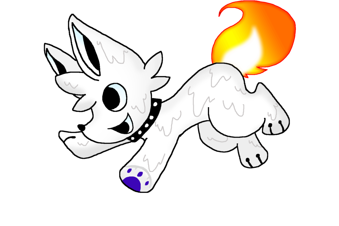 Drawing candle wax. Pupper by kyrifian on