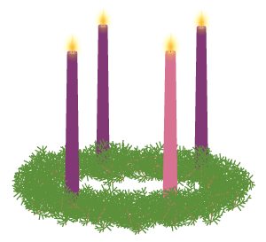 Drawing candles advent candle. Wreath vector illustration jeff