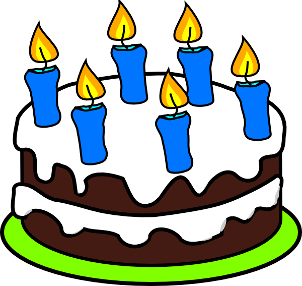 Drawing candles cake. Free birthday cakes images
