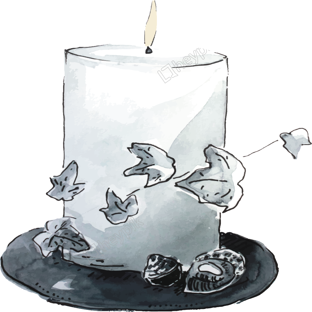 Towel vector sketch. Hand drawn candle with