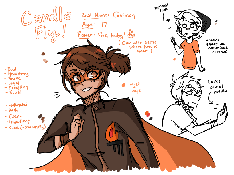 Drawing candles comic. Candle fly by tribecki