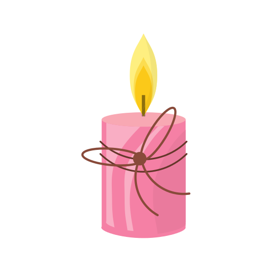Drawing candles pen. Spa candle isolated icon