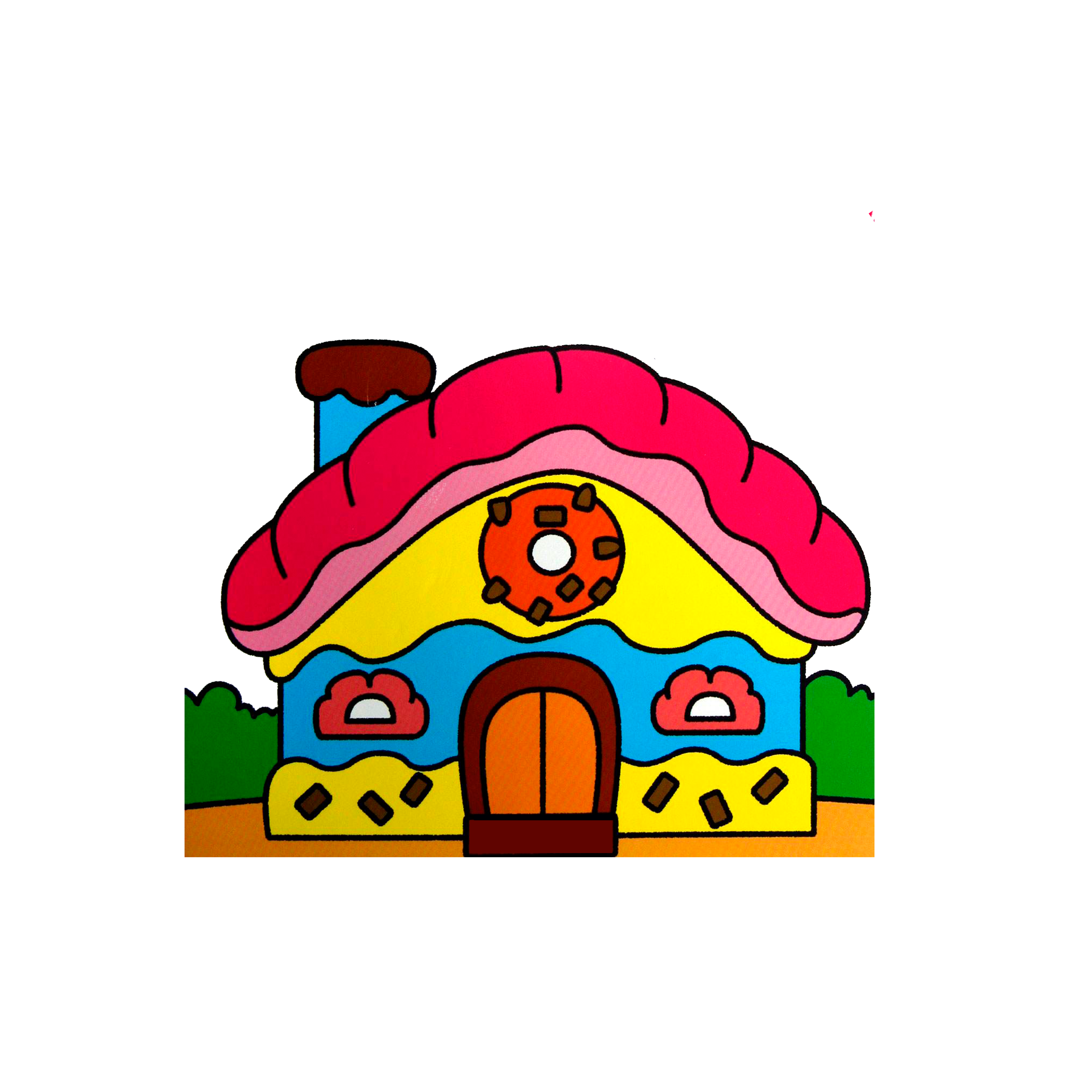 Drawing candy. Clip art house transprent