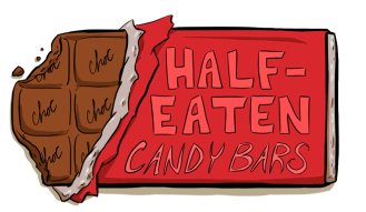 Drawing candy bar. Three types of elasticity