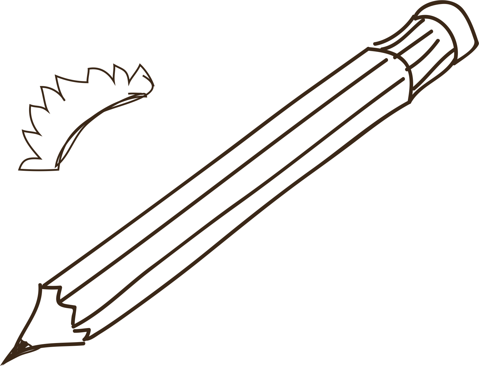 Watteau drawing pencil. Hand drawn transprent png