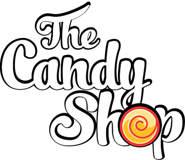 Drawing candy shop. The
