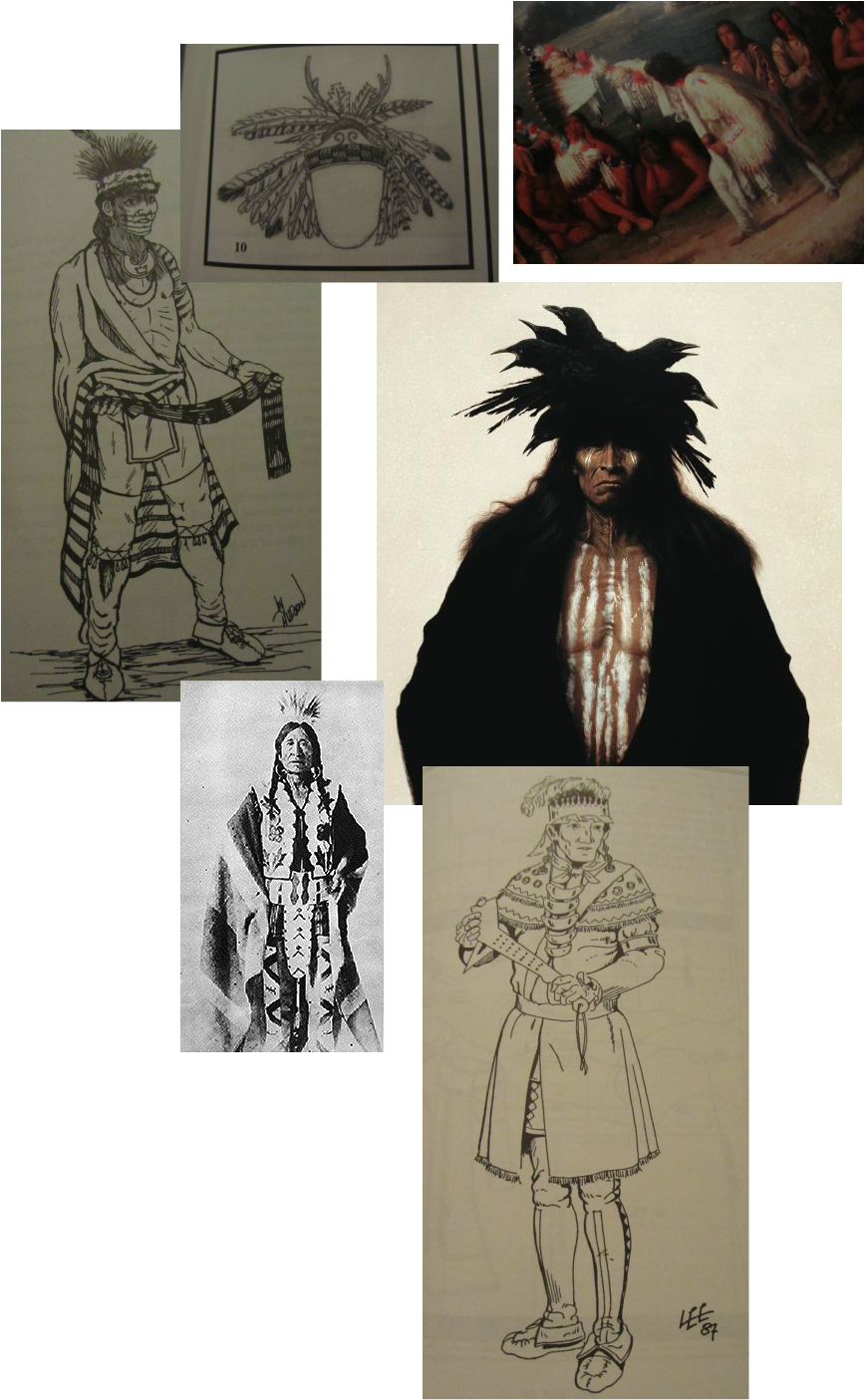 Costume drawing bird. Rez sisters costumes by