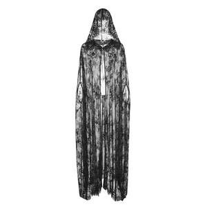 Drawing capes hood. Lilith long black lace