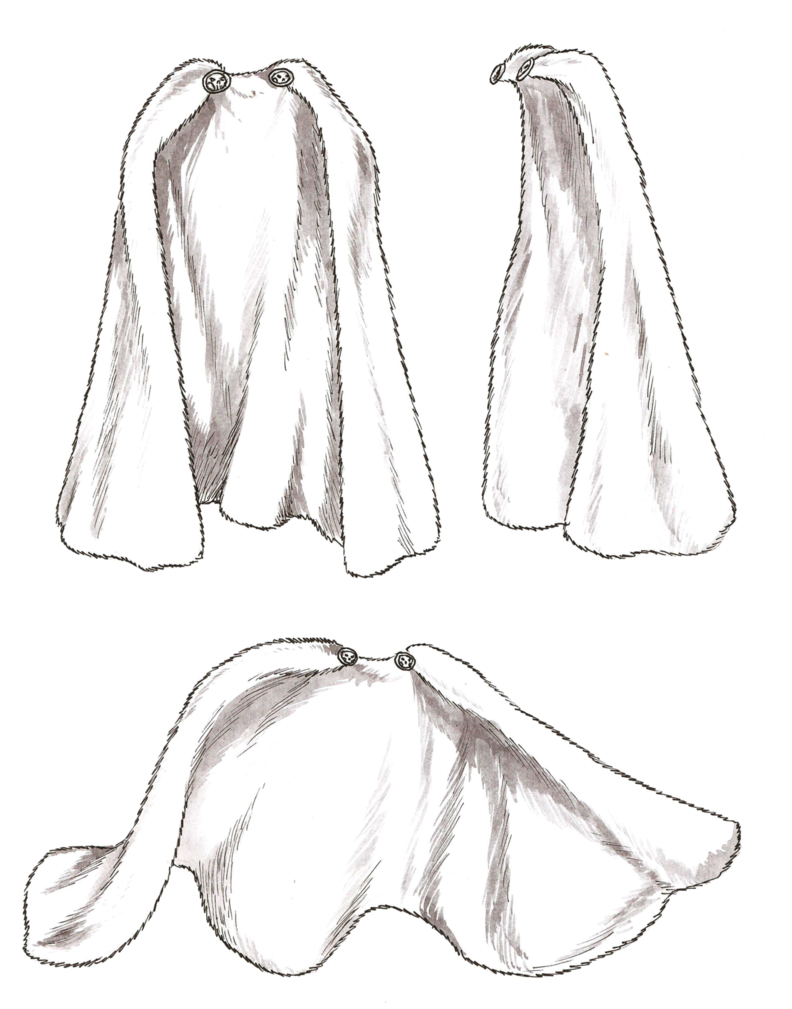 Drawing capes coat. Collection of anime