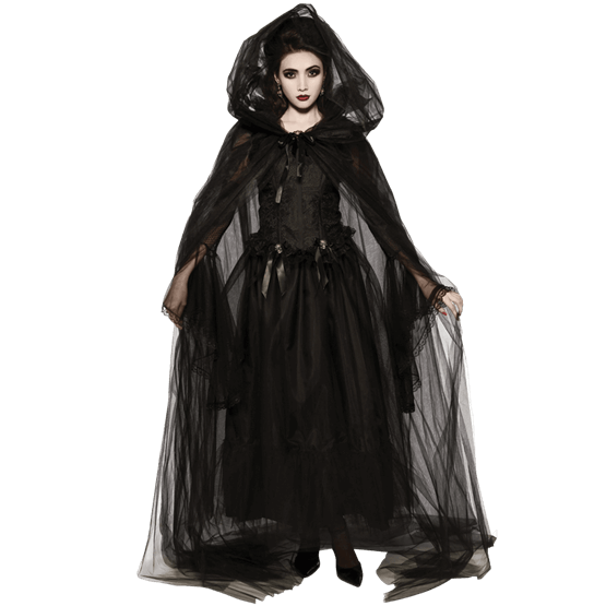 Drawing cloaks hooded robe. Sheer black cape rc