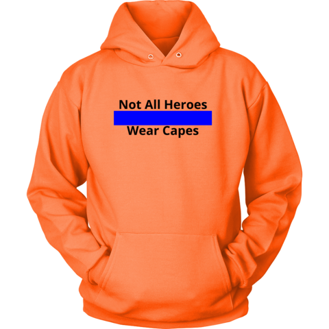 Drawing capes hoodie. Not all heroes wear