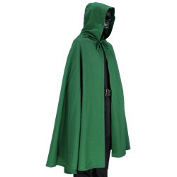 Drawing capes medieval. Hooded cape and larp