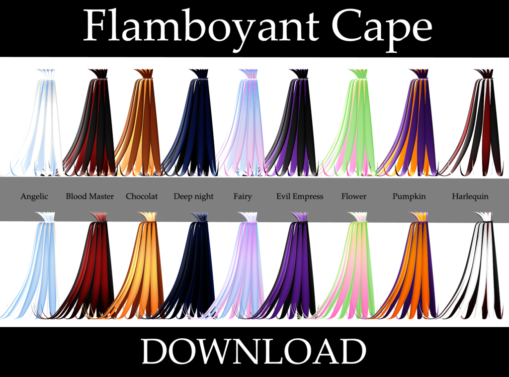 Drawing capes mmd. Flamboyant cape by hoshichom