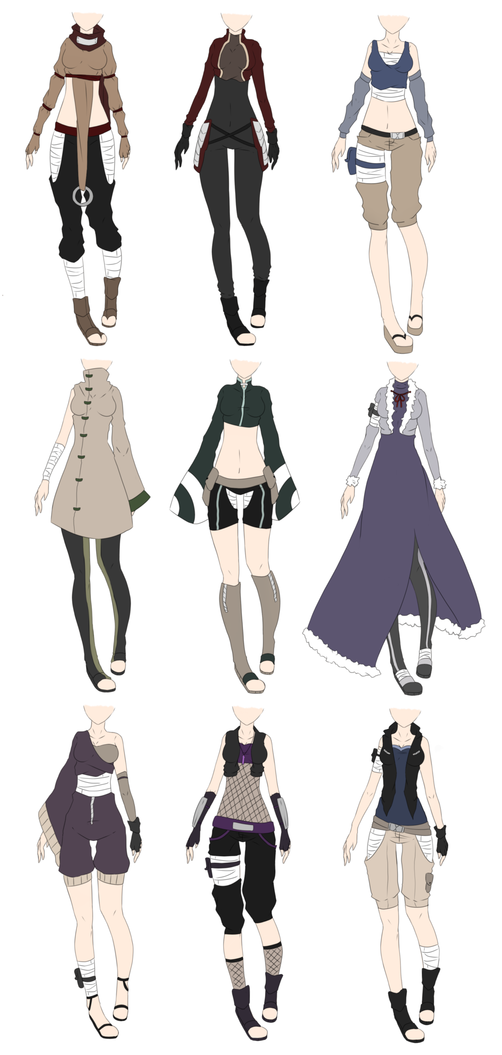 Designer drawing silk dress. Naruto outfit adoptables closed