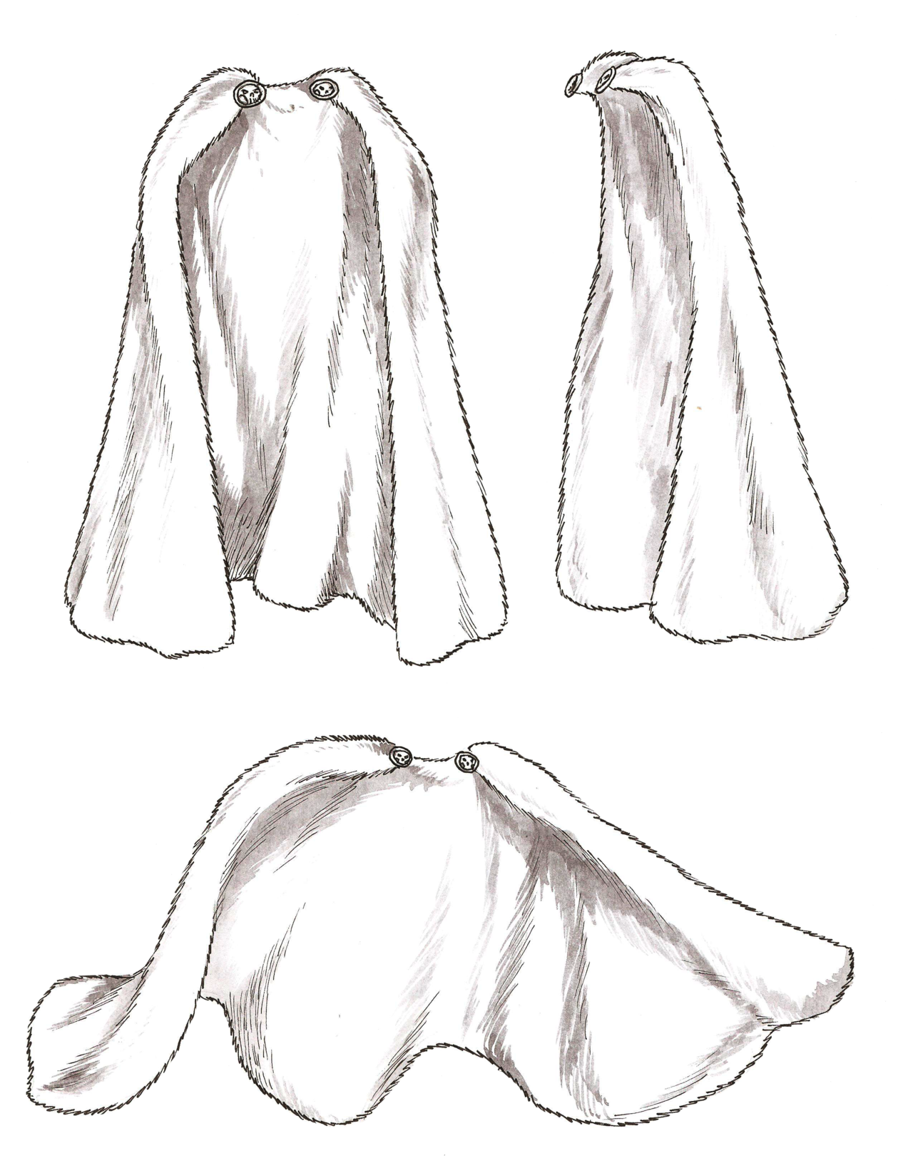 Drawing capes medieval