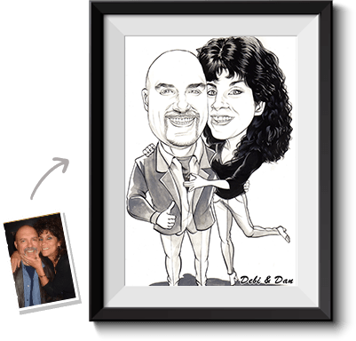 Drawing caracatures custom. Caricature from photo online