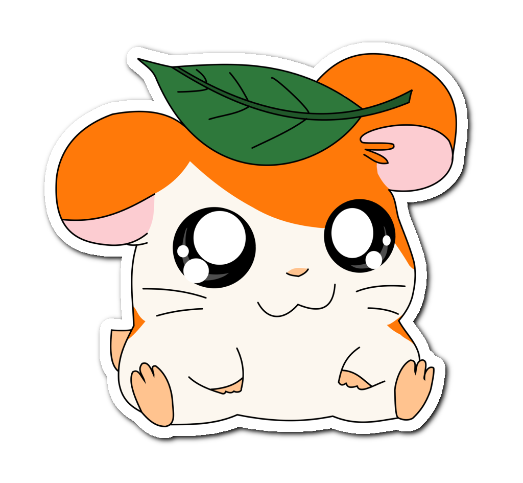 Hamtaro transparent free cute. Hamster kawaii anime orange