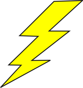 Drawing caracatures lightning bolt. Collection of free flashed