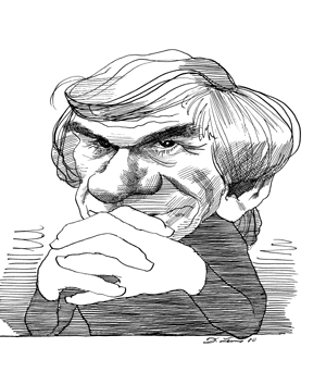 Drawing caracatures pinterest. Milan kundera caricatures by