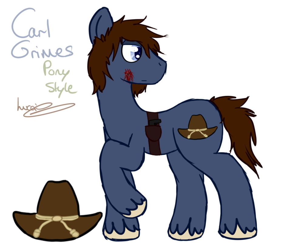 Drawing carl. Mlp style grimes by