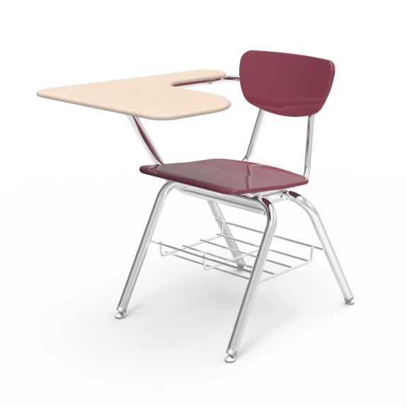 Drawing chairs classroom. Student desk and chair