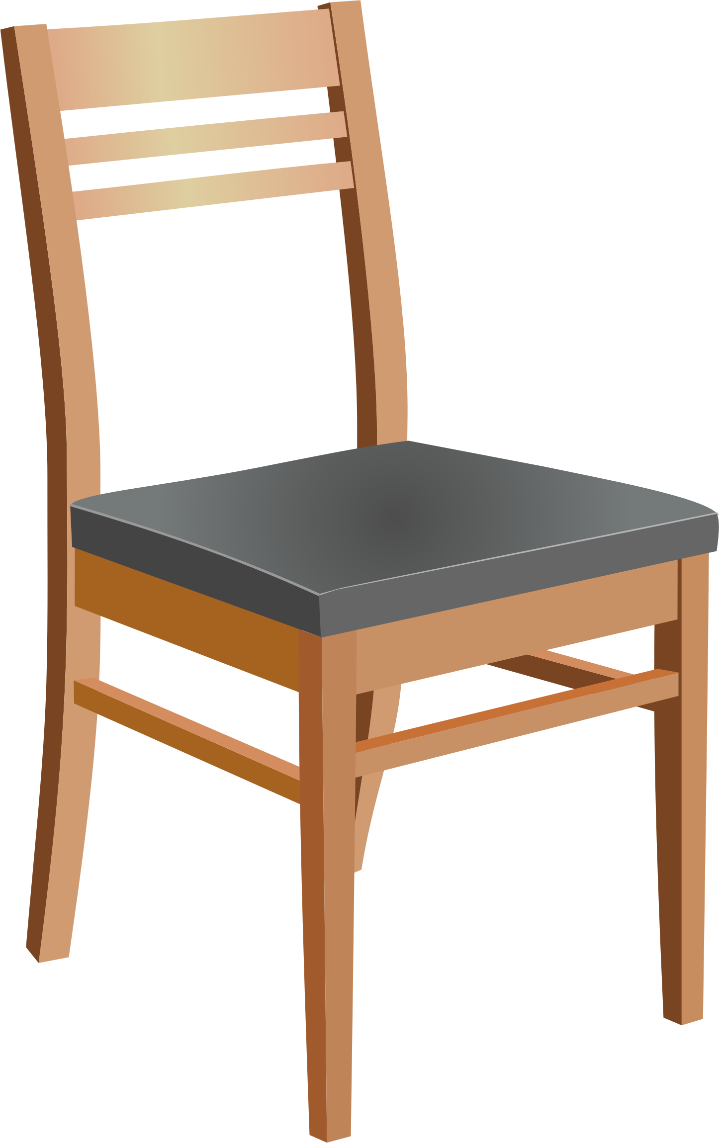 Drawing chairs sideways. Chair clipart black and