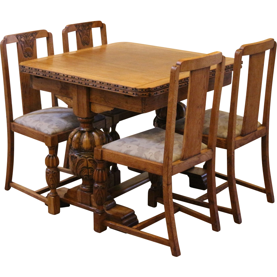 Drawing chairs dining room. Antique draw leaf pub