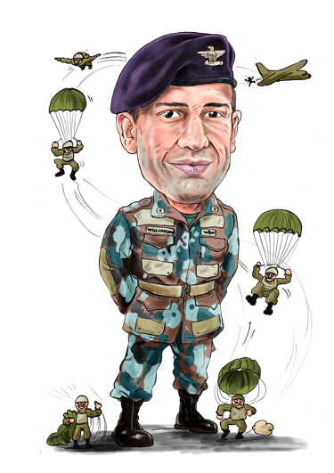 Drawing characatures military. Caricatures schink let
