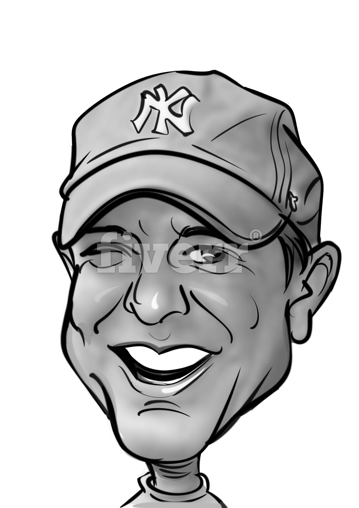 Portraits drawing easy. I will draw your clip art black and white