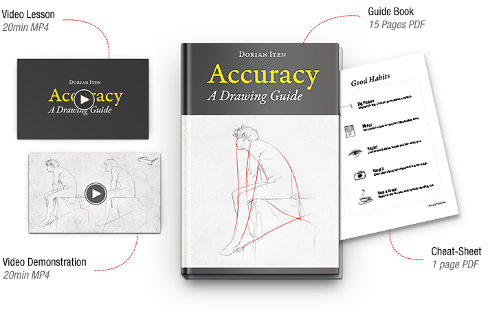 Drawing cheat proportions. Accuracy a guide on