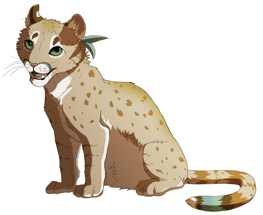 Drawing cheetah ear. Flicks with a smile