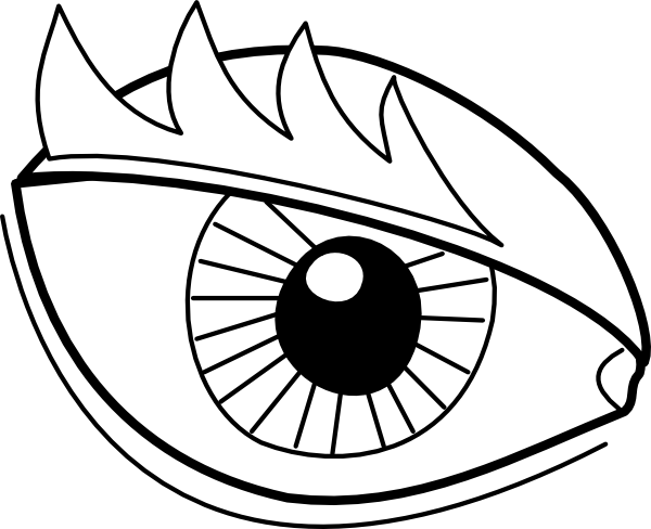 Eye clip outline. Drawing at getdrawings com