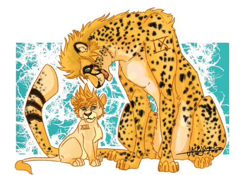 Drawing cheetah family. Is so cute tumblr