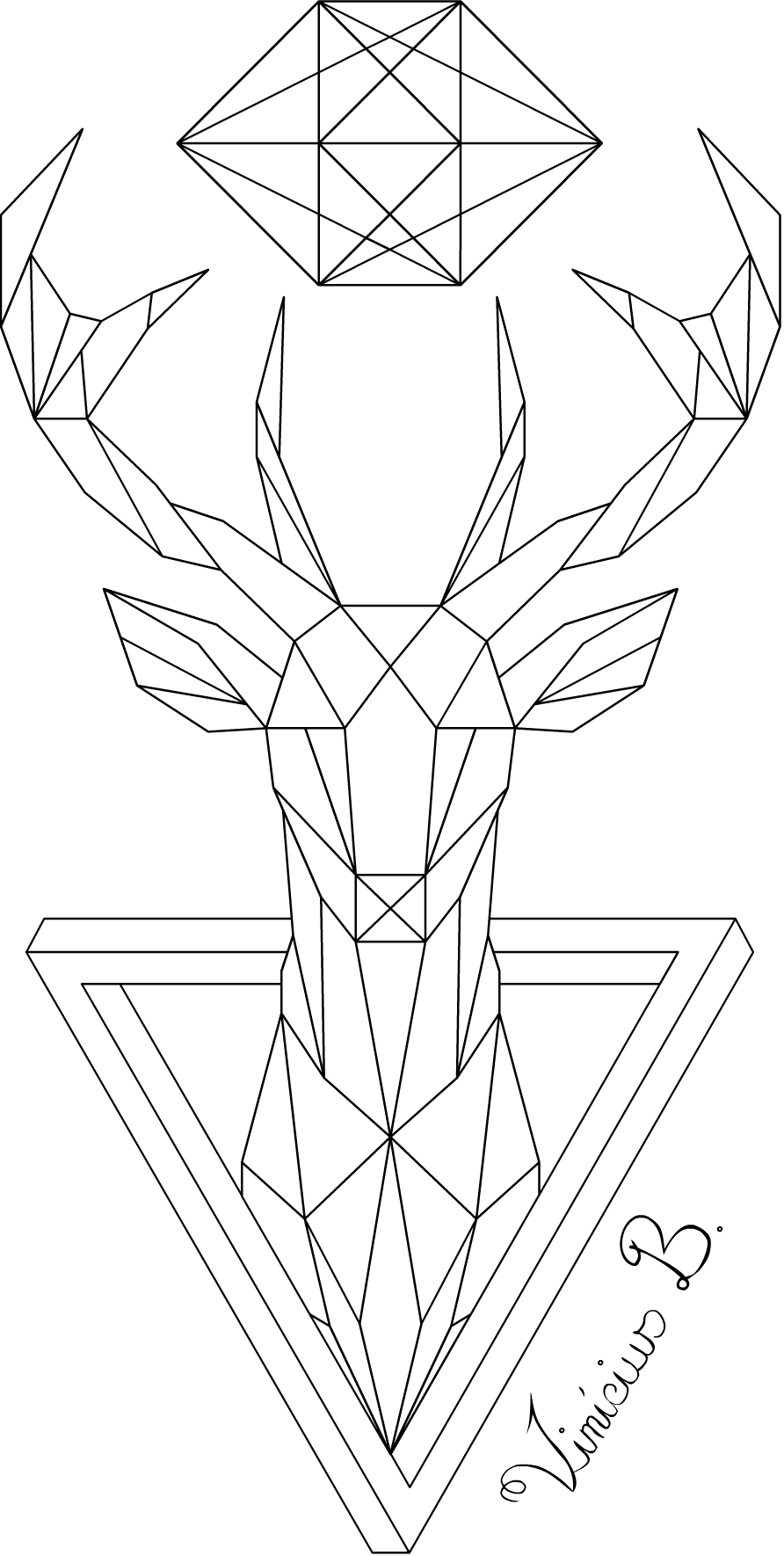 Vector giraffe geometric. Deer by mrdrawing on