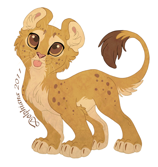 Drawing cheetah mountain lion. Chibi by dolphydolphiana on