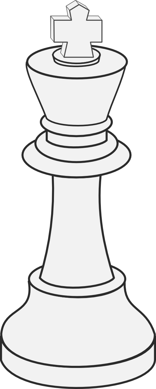 Drawing chess. Clipart white king x